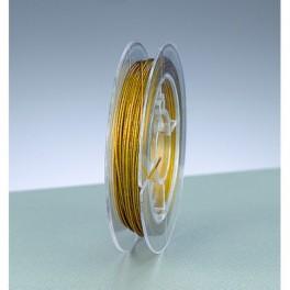 Schmuckdraht nylonummantelt gold