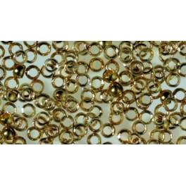 Quetschperle echt vergoldet 1 mm