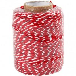 Bakers Twine/ Baumwollschnur rot weiß
