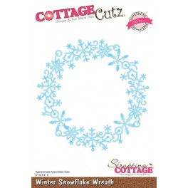 Schneideschablone CottageCutz Winter Snowflake Wreath (Elites)