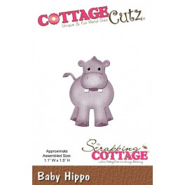 Schneideschablone CottageCutz Baby Hippo