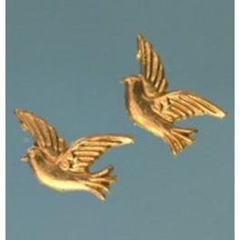 Wachsdekor Tauben gold