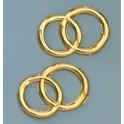 Wachsdekor Eheringe glänzend gold