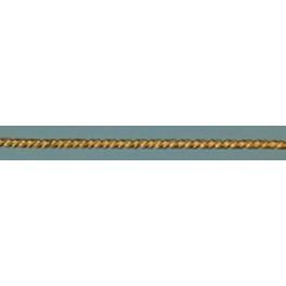 Wachsdekor Borte Kordel flach gold