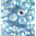 Glasfacettperlen 4mm irisierend klar