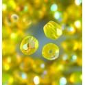 Glasfacettperlen 4mm irisierend gelb