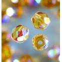 Glasfacettperlen 6mm irisierend honig