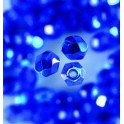 Glasfacettperlen 4mm irisierend blau