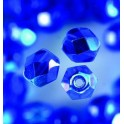 Glasfacettperlen 6mm irisierend blau