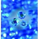 Glasfacettperlen 4mm irisierend dunkelaqua