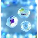 Glasfacettperlen 6mm irisierend hellblau
