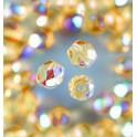 Glasfacettperlen 4mm irisierend helltopaz
