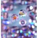 Glasfacettperlen 4mm irisierend lila