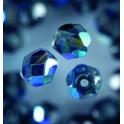 Glasfacettperlen 6mm irisierend schwarz