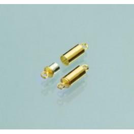 Magnetschließen Hülse, goldfarbig