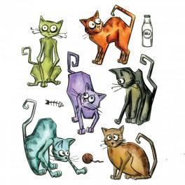 "Stempelset ""Crazy Cats"""