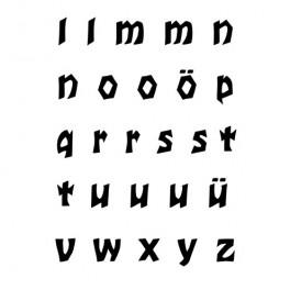 """Stempelset """"Alphabet Kleinbuchstaben l-z 1"""""""