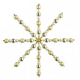 Drahsternebastelset mit Perlen 15cm, kultur/gold