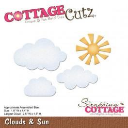 Schneideschablone CottageCutz Clouds & Sun