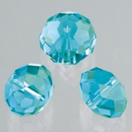 Glasfacettperle Brilliance azurblau 4x6mm