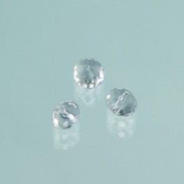 Glasfacettperle Brilliance kristall 10x14mm