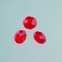 Glasfacettperle Brilliance siam 4x6mm