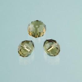 Glasfacettperle Brilliance olivine 6x8mm