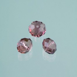 Glasfacettperle Brilliance amethyst 4x6mm