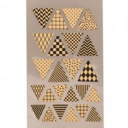 Kraftpapier Sticker Wimpel