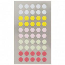 Sticker Punkte pastell 8mm