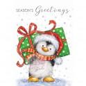 "Motivstempel ""Pinguin mit Geschenk"""