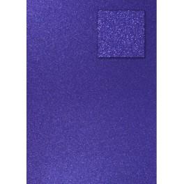 Glitterkarton royalblau