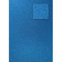 Glitterkarton pfauenblau
