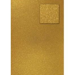 Glitterkarton dunkelgold