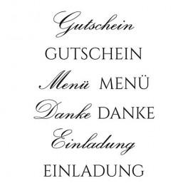 """Stempelset """"Gutschein"""""""
