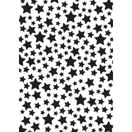 Nellies Choice Plastic Mixed media stencil A5 - stars