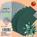 Bascetta Sterne Papier DUO 10 x 10 cm grün/silber