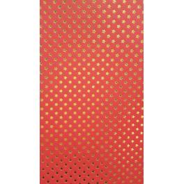 Sternenteppich Papier rot/gold