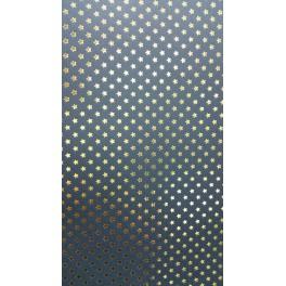 Sternenteppich Papier schwarz/gold