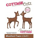 Schneideschablone CottageCutz Woodland Fawns