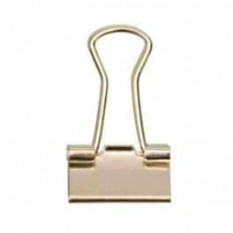 Foldback Klammern 25mm zart goldfarbig