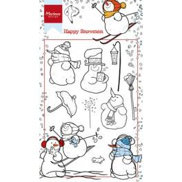 """Motivstempel """"Happy snowmen"""""""