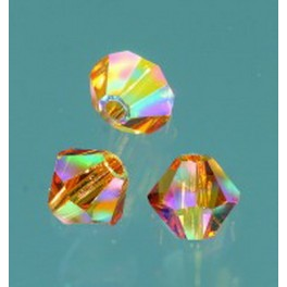 Swarovski Facettperle topas AB 4mm