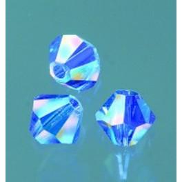 Swarovski Facettperle sapphire AB 4mm