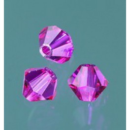 Swarovski Facettperle fuchsia 4mm