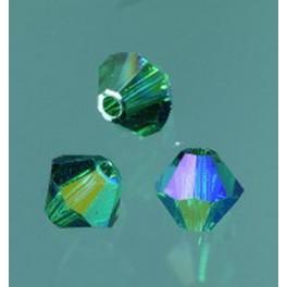 Swarovski Facettperle emerald AB 6mm