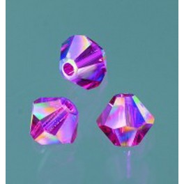 Swarovski Facettperle fuchsia AB 6mm