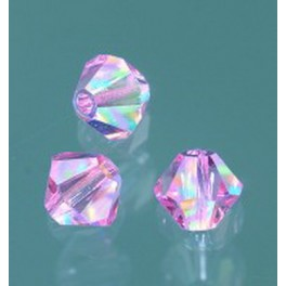 Swarovski Facettperle light rose AB 6mm