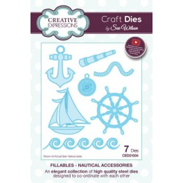 "Schneideschablone ""Fillables Collection Nautical Accessories"""