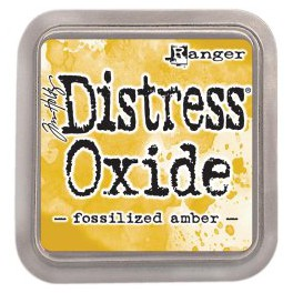 "Tim Holtz Distress Oxide Ink Pad ""Fossilized Amber"""